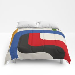 TAKE ME OUT (abstract geometric) Comforters