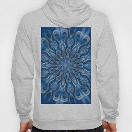 electric blue swirl mandala Hoody