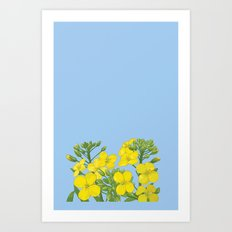 Summer flower in yellow Art Print