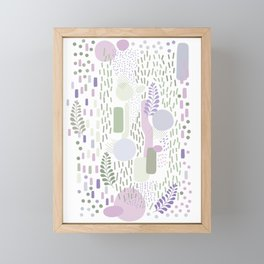 Close to Nature - Simple Doodle Pattern 1 #handdrawn #pattern #nature Framed Mini Art Print