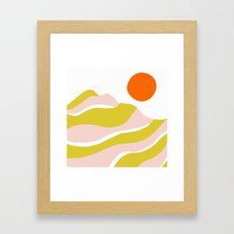 sierra mountain sunset Framed Art Print