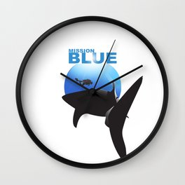 Mission Blue Wall Clock