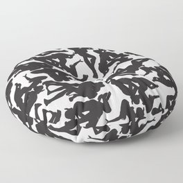 3 Silhouettes Floor Pillow
