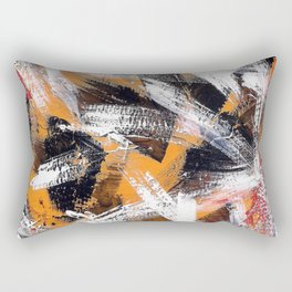 Abs orange black and white Rectangular Pillow