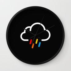 Lovely Rainy Day Wall Clock