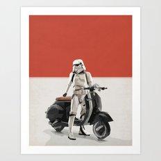 Vespa Troooper Art Print