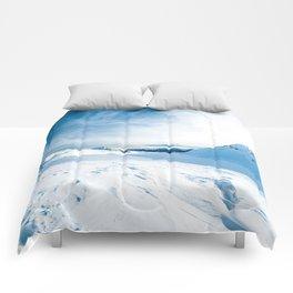 Mountain ice 2 Comforters