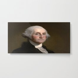 Portrait of George Washington by Gilbert Stuart Williamstown Metal Print