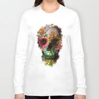 art Long Sleeve T-shirts featuring SKULL 2 by Ali GULEC