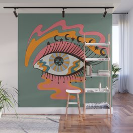 Cosmic Eye Retro 70s, 60s inspired psychedelic Wall Mural