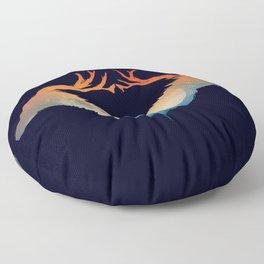 Night sky over savanna Floor Pillow