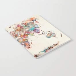world map watercolor deux Notebook