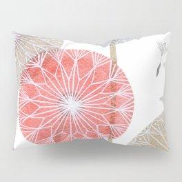 Red dandelions, watercolor Pillow Sham