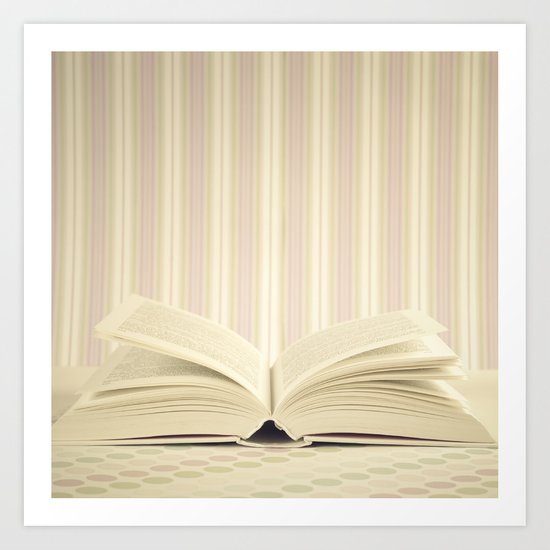 Stories in the books (Retro and Vintage Still Life Photography) Art Print