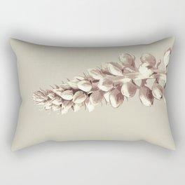 Pink and Grey Plant Art Rectangular Pillow