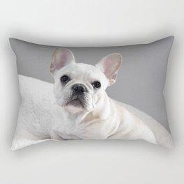 Cream Frenchie Rectangular Pillow
