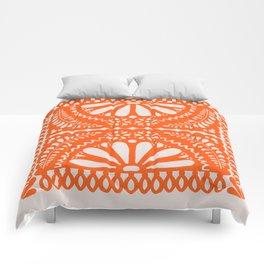 Fiesta de Flores Orange Comforters
