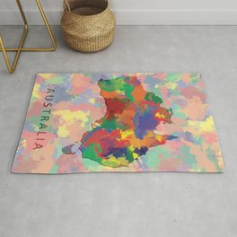 Australia, Outline, Map Rug