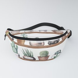 Cactus Shelf Rose Gold Green Fanny Pack