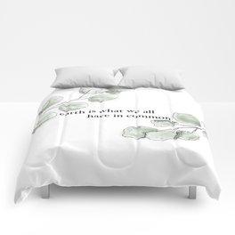minimalist leaves Comforters