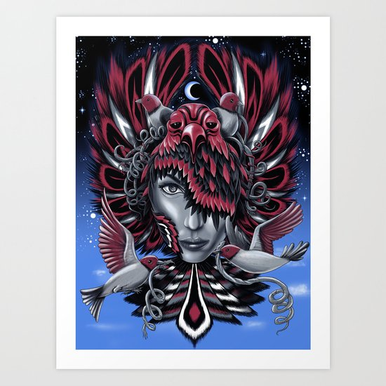 Bird Mask 2 Art Print