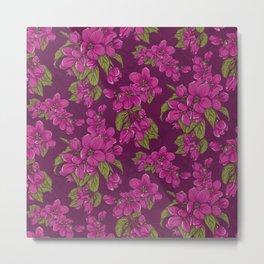 Pink appleflower Metal Print