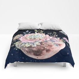 succulent night light Comforters