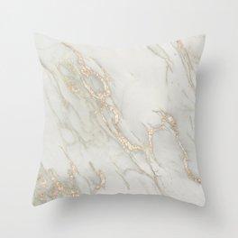 Marble Love Bronze Metallic Throw Pillow