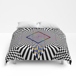 Matrix processor. Holographic hypnotic pattern. Comforters
