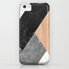 Marble and Wood Abstract Slim Case iPhone 5c