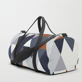 Navy Rust Geometry II Duffle Bag