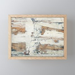 Wood planks epoxy resin repairing shipboard texture Framed Mini Art Print