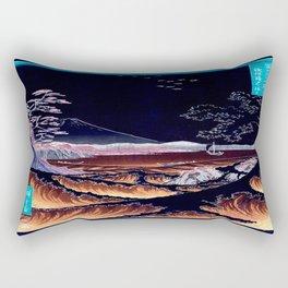The Sea at Satta. Dark Rectangular Pillow