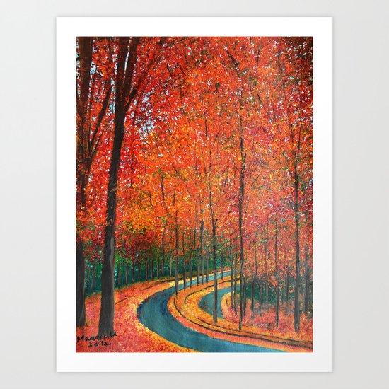 Beautiful colors of Autumn Art Print