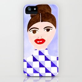 Checked Woman iPhone Case