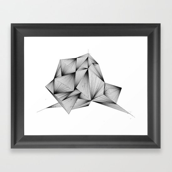 Structure (XYZ) Framed Art Print