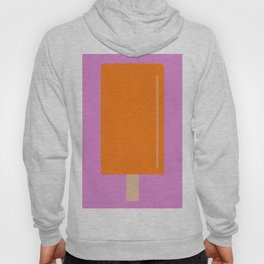 Orange Popsicle with pink background Hoody