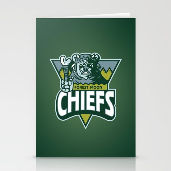 Forest Moon Chiefs - Green Stationery Cards