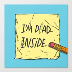 I'm Dad Inside Canvas Print