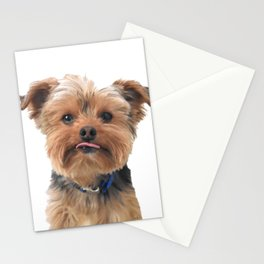 Yorkie Sticking Tongue Out | Dogs | Nadia Bonello Stationery Cards