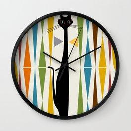 Mid-Century Modern Art Cat 2 Wall Clock