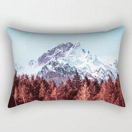 Vast Mountain Beyond the Forest Rectangular Pillow