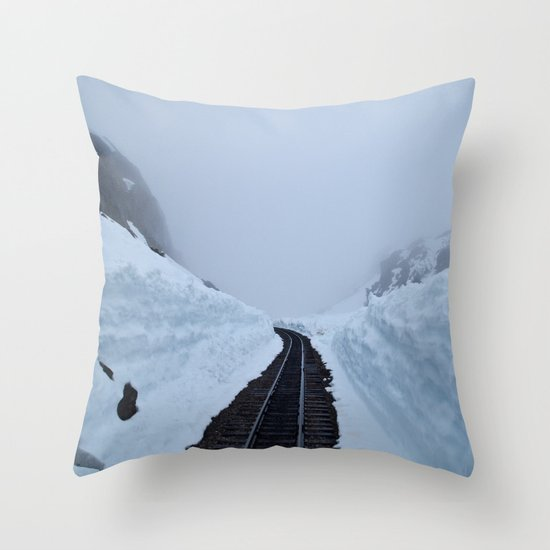 The winter pass Throw Pillow