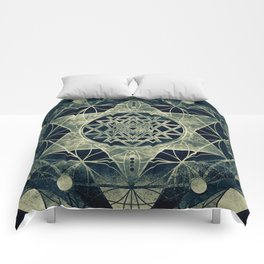 Sacred Geometry for your daily life- SRI YANTRA Comforters