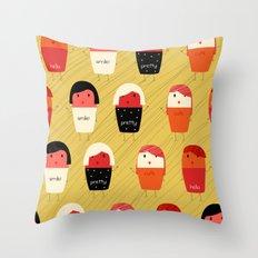 Cute girls Throw Pillow