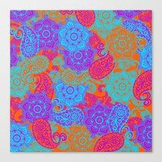 vibrant paisley Canvas Print