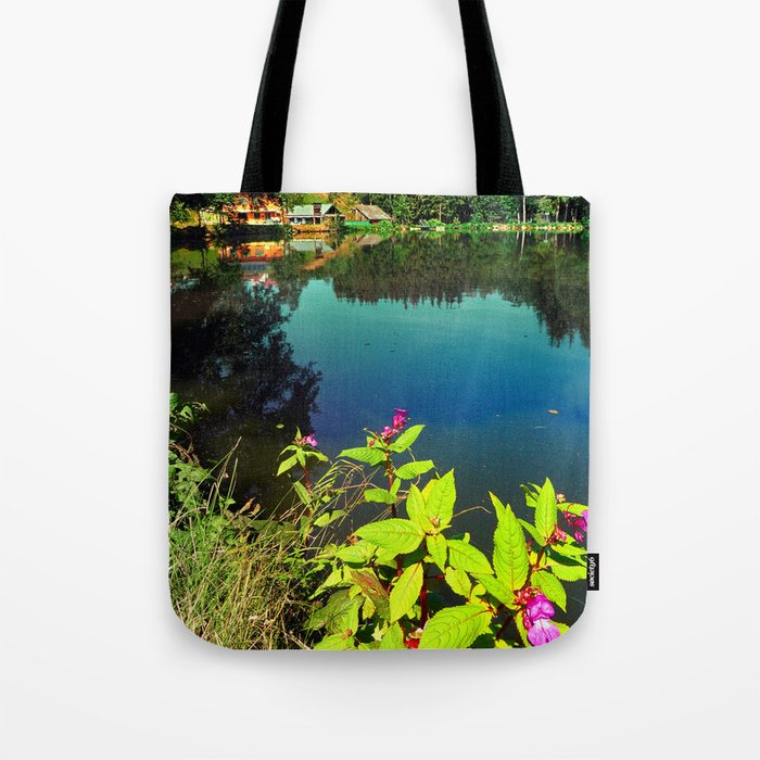 End of summer at the pond Tote Bag