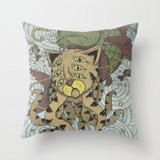 Mr Octopus & The One That Got Away Throw Pillow