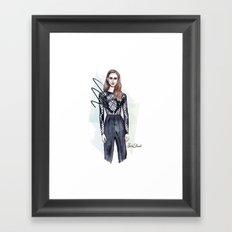 From the catwalk Framed Art Print