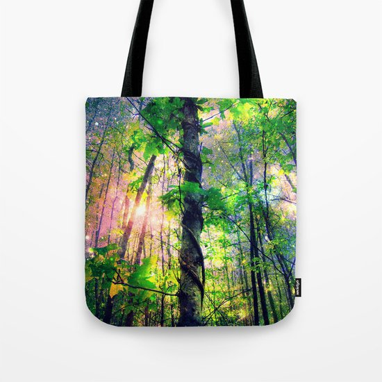 Forest of the Fairies (Deep Pastels) Tote Bag